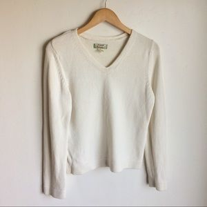 Tommy Bahamas Cream V Neck Sweater Size L